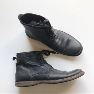 John Varvatos Ankle Boots Leather Lace Up